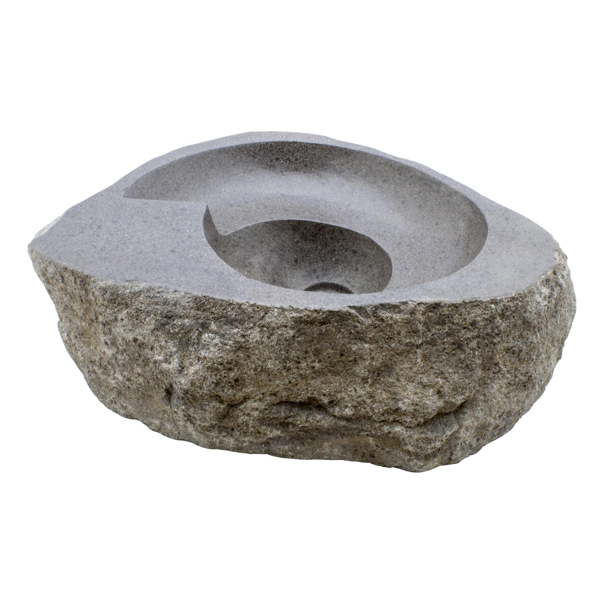 Indomarmer Waschbecken aus Flussstein Spirale 56x41x15cm