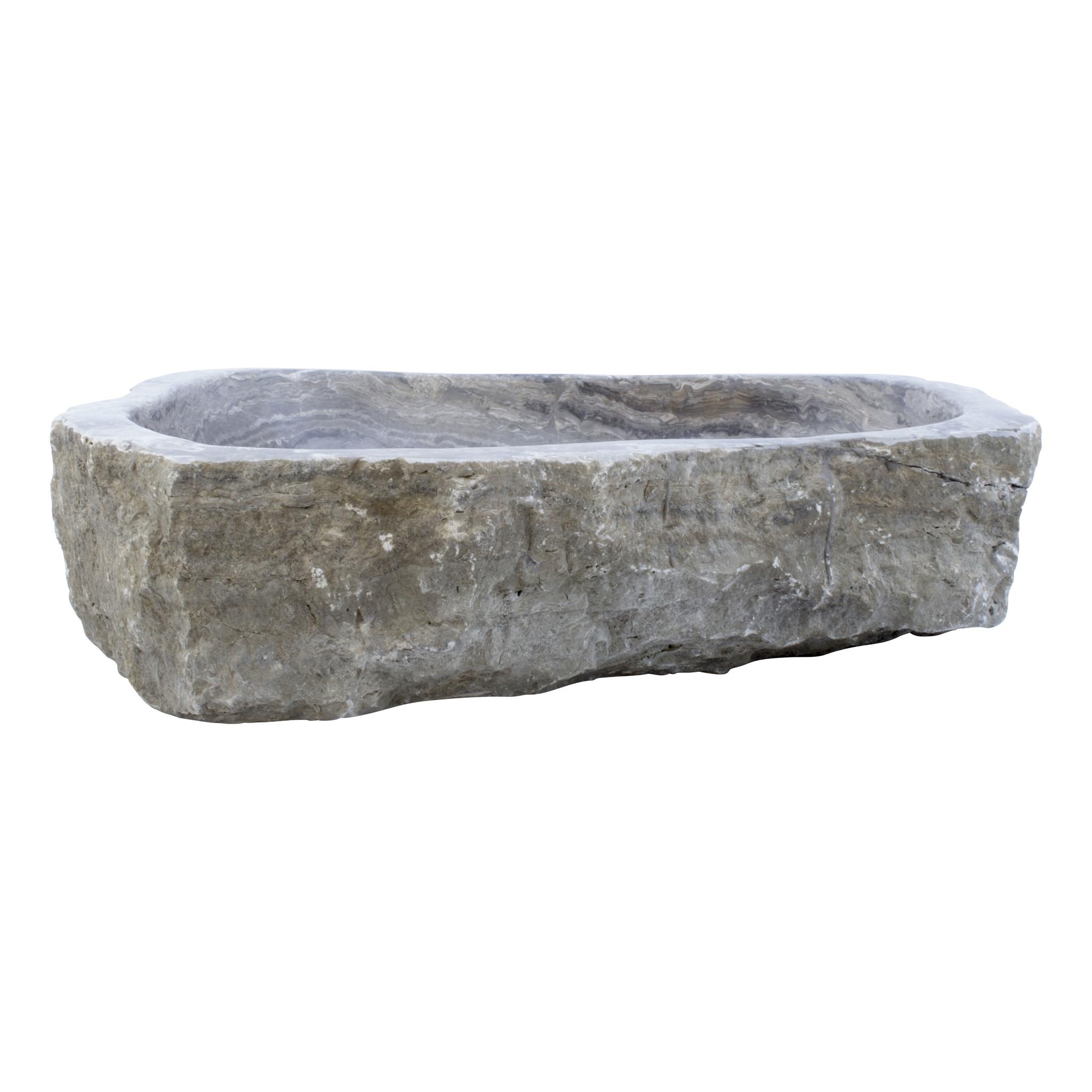 Indomarmer Waschbecken aus Schwarzem Onyx 60x50x15cm