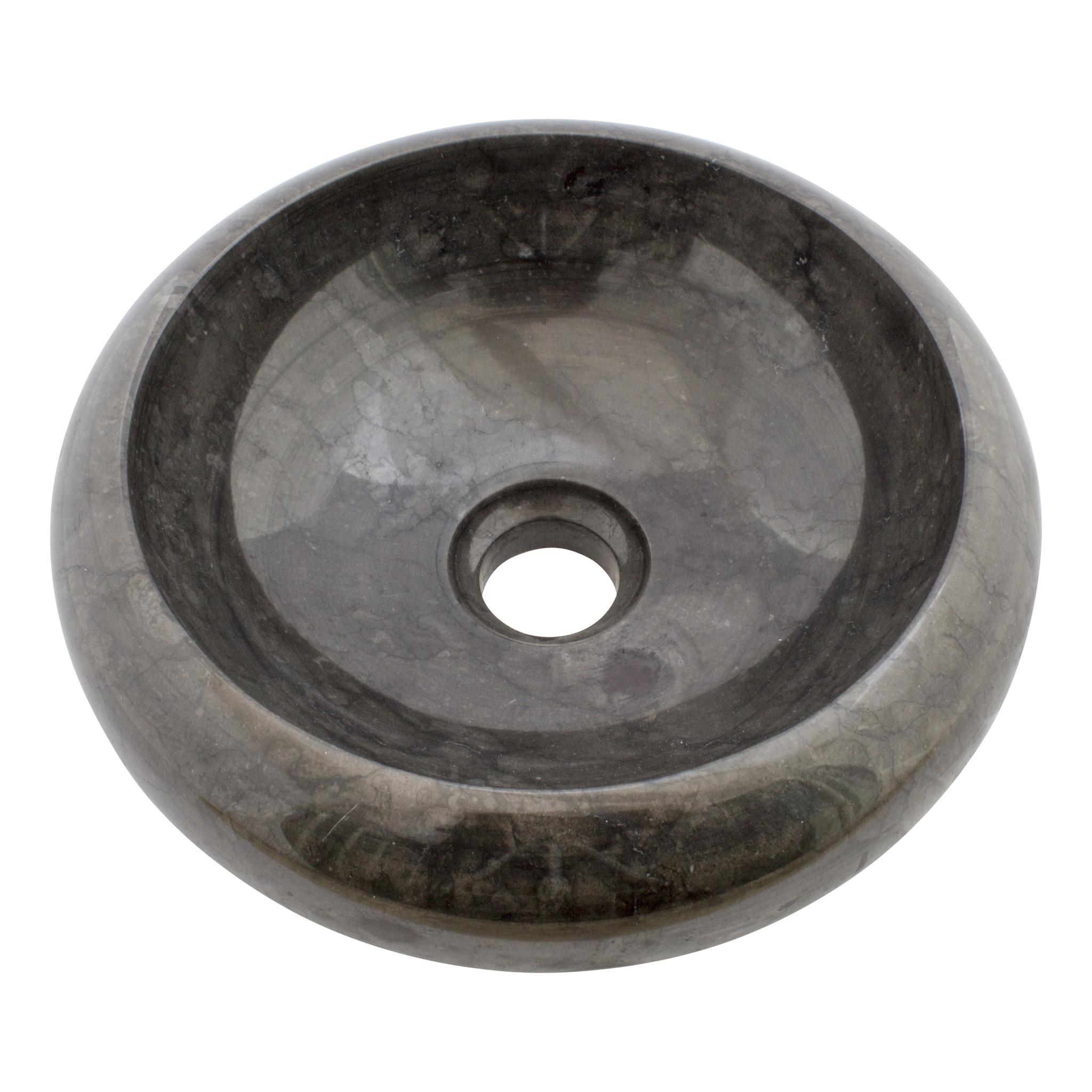 Indomarmer Waskom Donut Zwart Marmer Ø 30 x H 10 cm