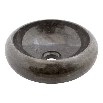 Indomarmer Schwarz Marmor Waschbecken Donat Ø 30 x H 10 cm