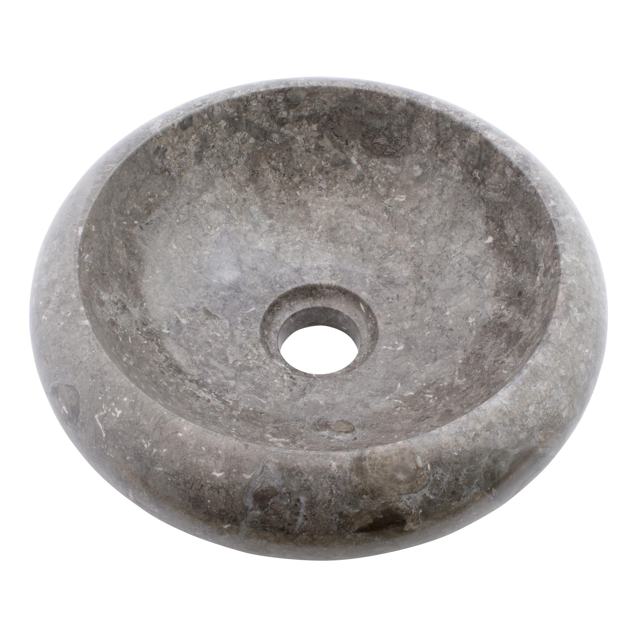 Indomarmer Waskom Donut Grijs Marmer Ø 30 x H 10 cm