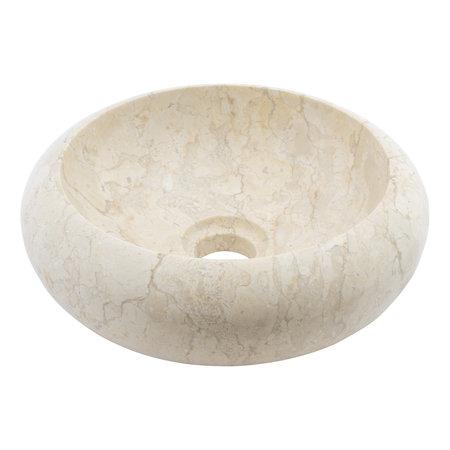 Indomarmer Creme Marmor Waschbecken Donat Ø 30 x H 10 cm