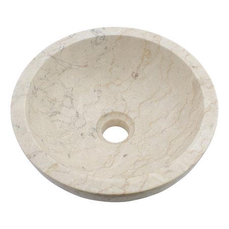 Indomarmer Creme Marmor Waschbecken Ø 30 x H 12 cm