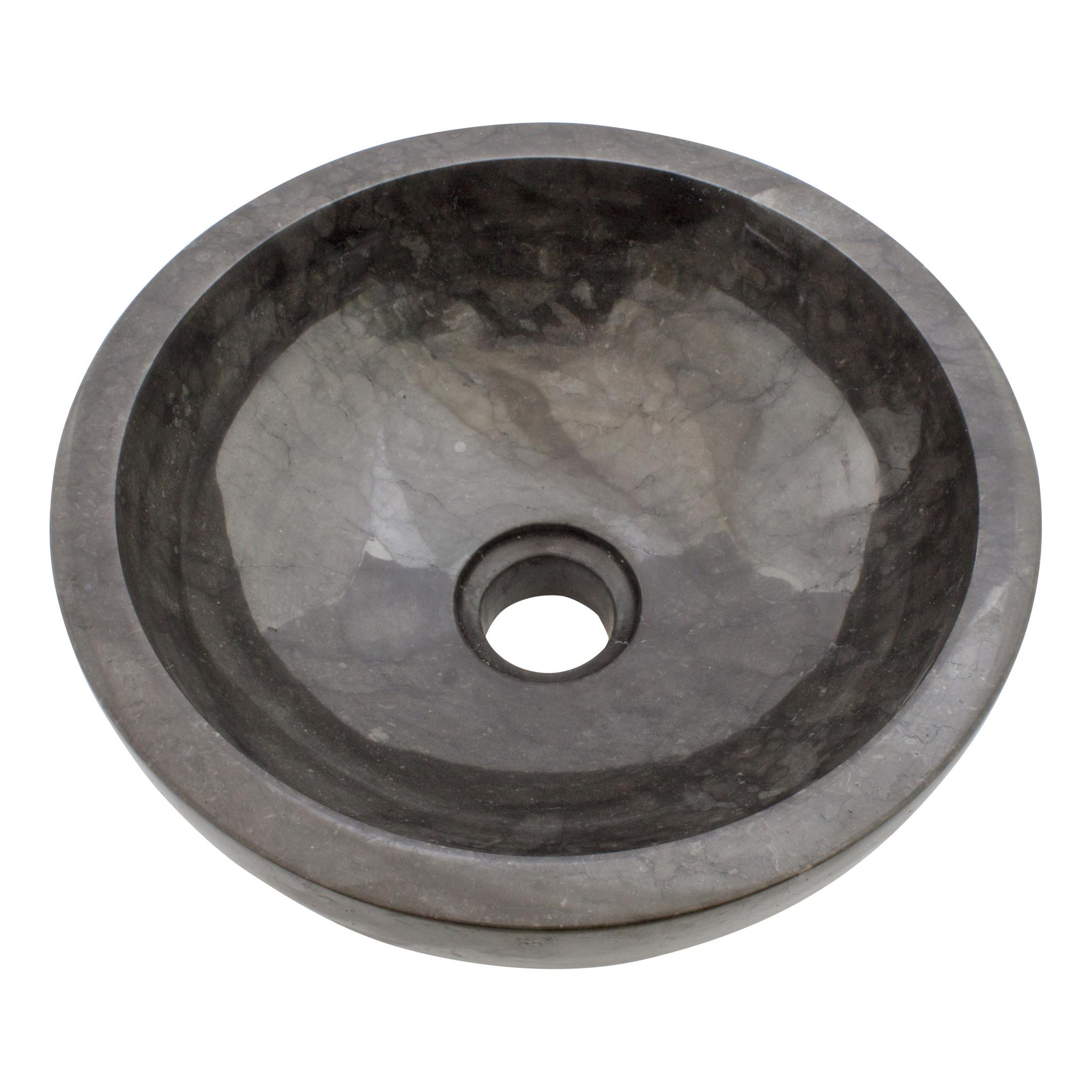 Indomarmer Schwarz Marmor Waschbecken Ø 30 x H 12 cm