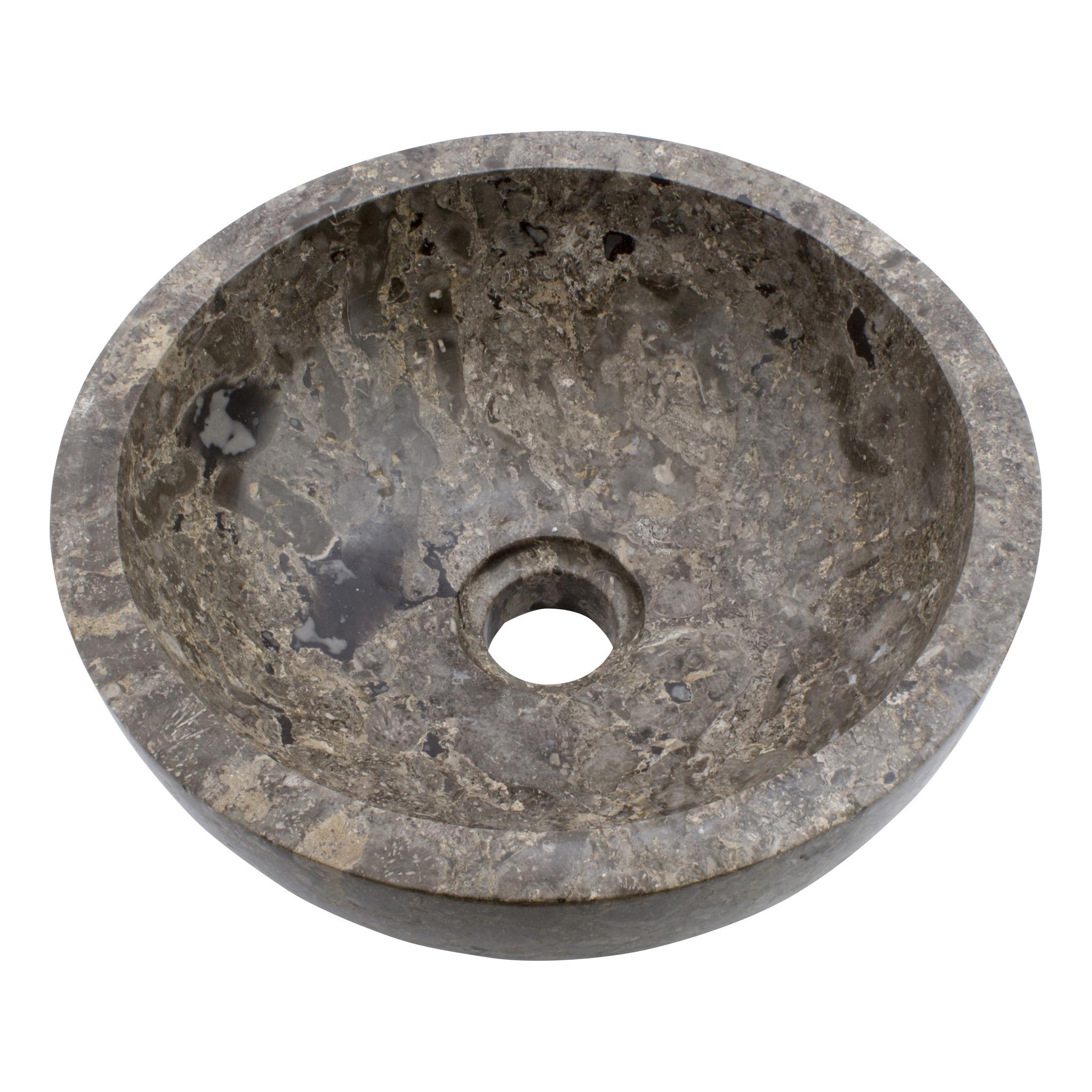Indomarmer Gray Marble Wash bowl Ø 30 x H 12 cm