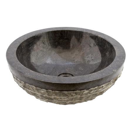 Indomarmer Waskom Marmo-Polish Zwart Marmer Ø 40 x H 15 cm