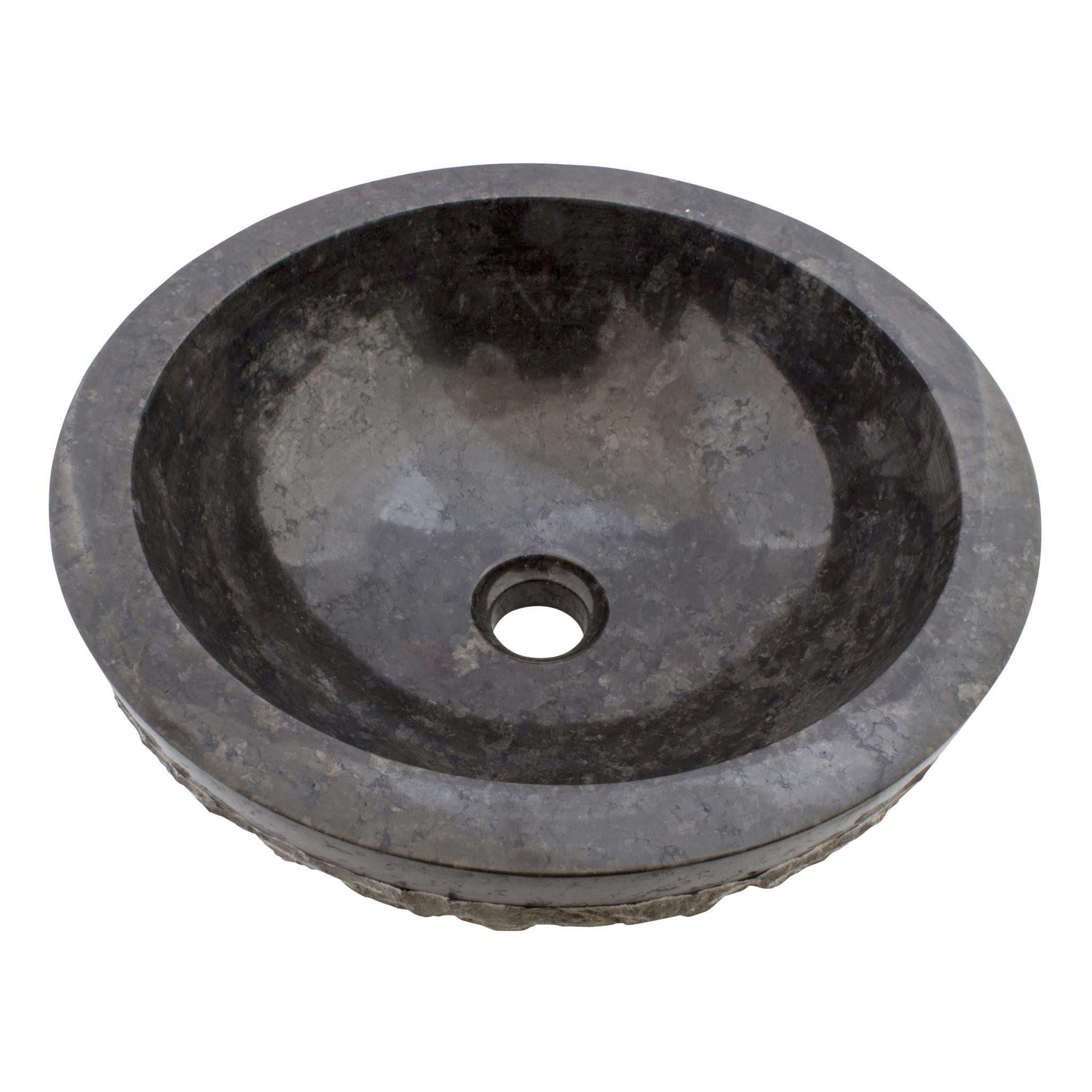 Indomarmer Black Marble Wash bowl Marmo-Polish Ø 40 x H 15 cm