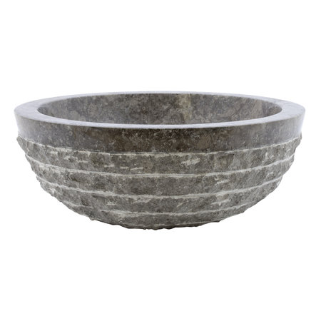 Indomarmer Gray Marble Wash bowl Marmo-Polish Ø 40 x H 15 cm