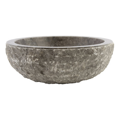 Indomarmer Gray Marble Wash bowl Full-Marmo Ø 40 x H 15 cm