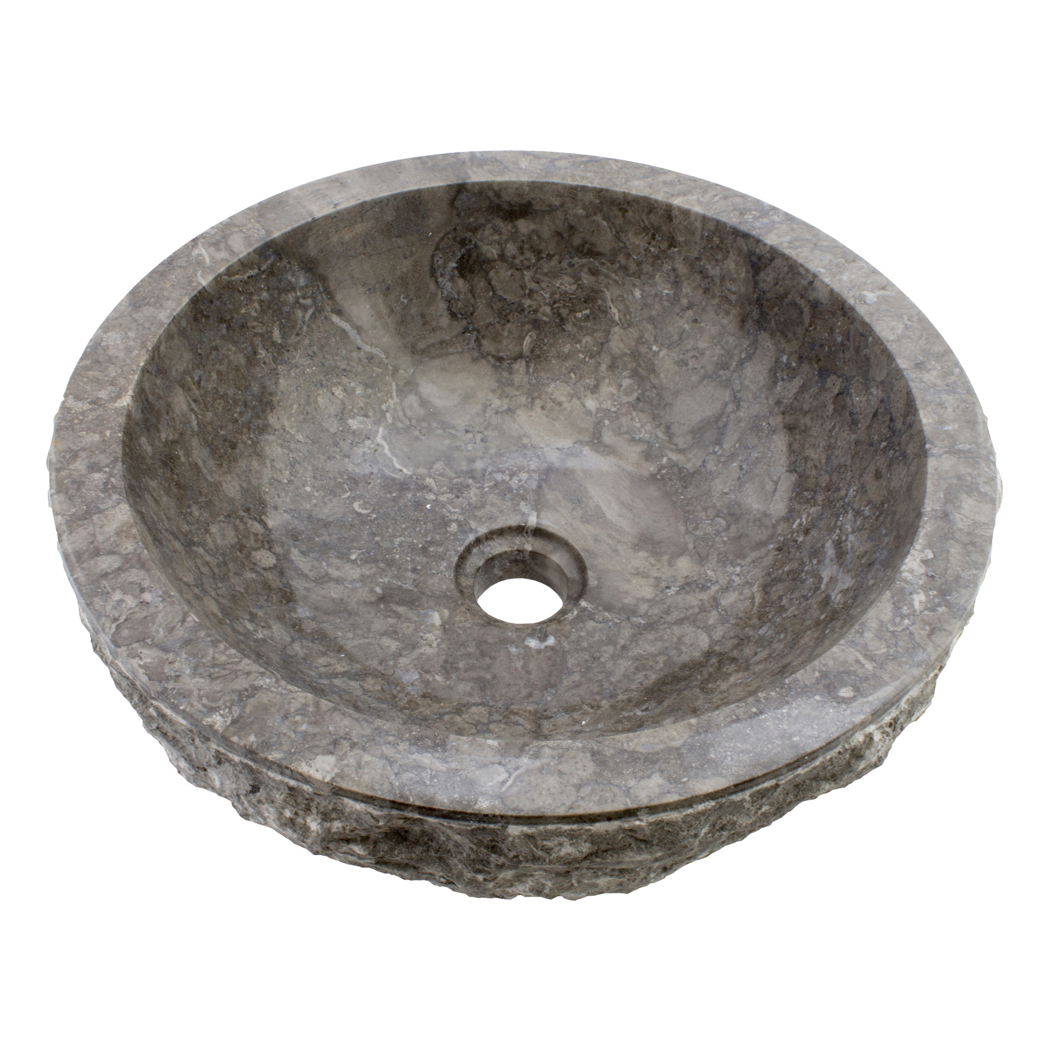 Indomarmer Gray Marble Wash bowl Full-Marmo Ø 40 x H 15 cm