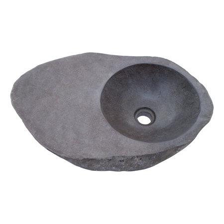 Indomarmer Rivierstenen Wasbak Bowl 58x36x15cm