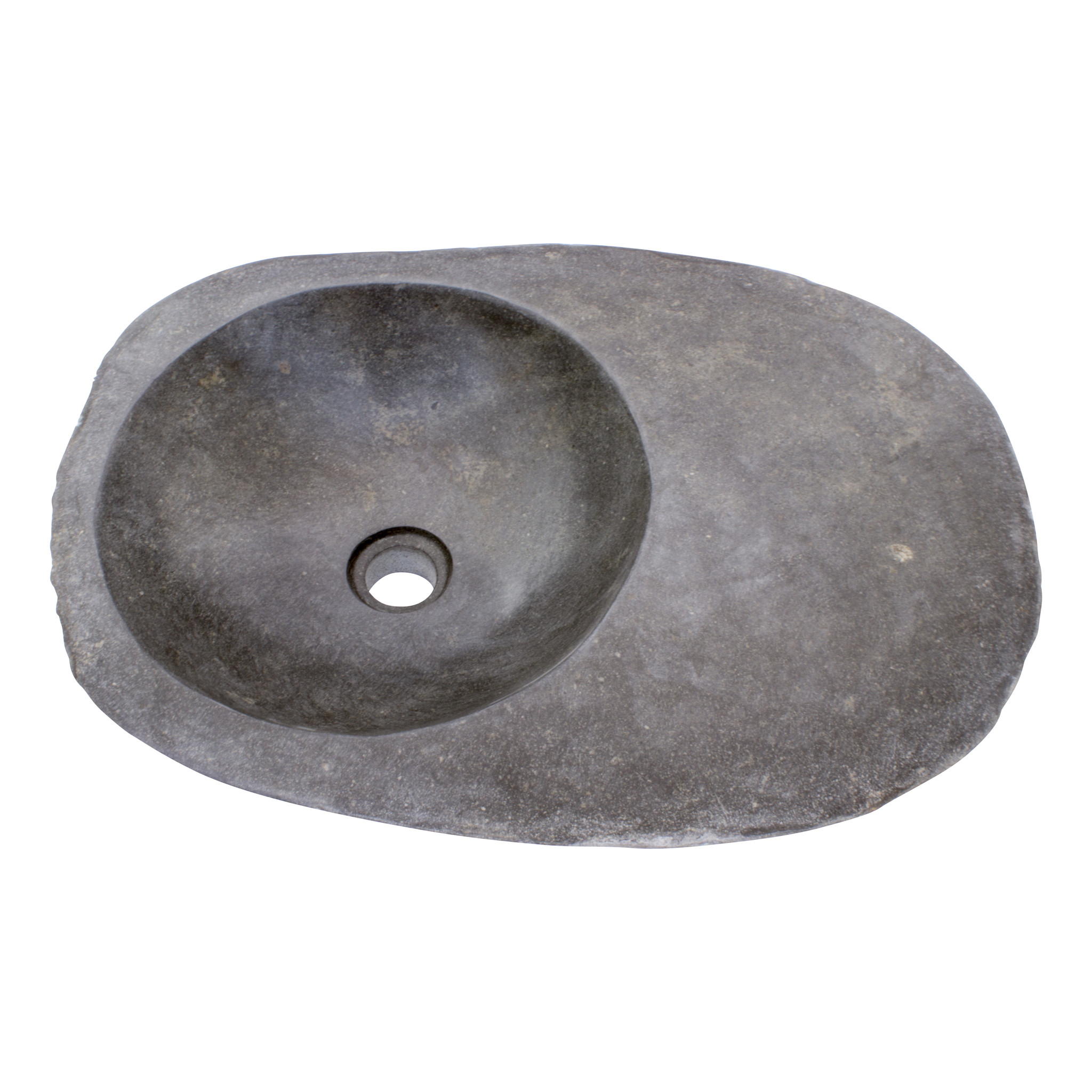 Indomarmer Waschbecken aus Flussstein Bowl 56x41x15cm