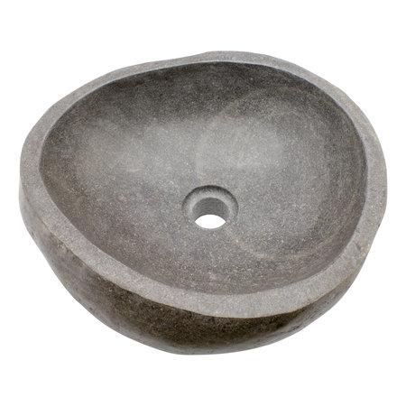 Indomarmer Polierte Waschbecken aus Flussstein 40x38x15cm