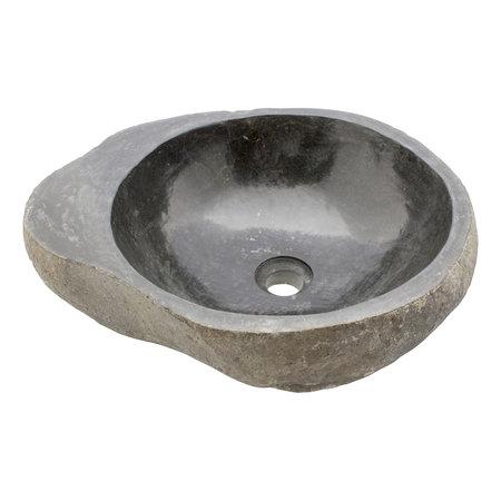Indomarmer Rivierstenen Wasbak Bowl 49x40x15cm