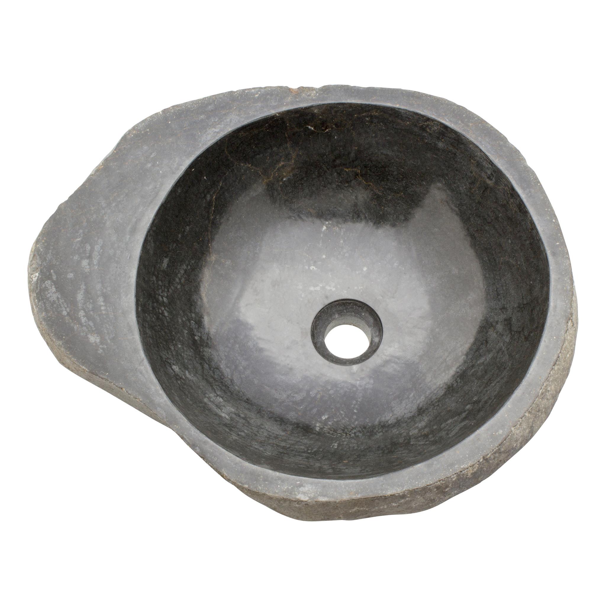 Indomarmer Waschbecken aus Flussstein Bowl 49x40x15cm
