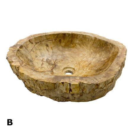 Indomarmer Set Waschbecken aus Versteinertes Holz
