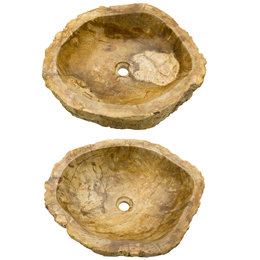 Indomarmer Petrified Wood Washbasin Set