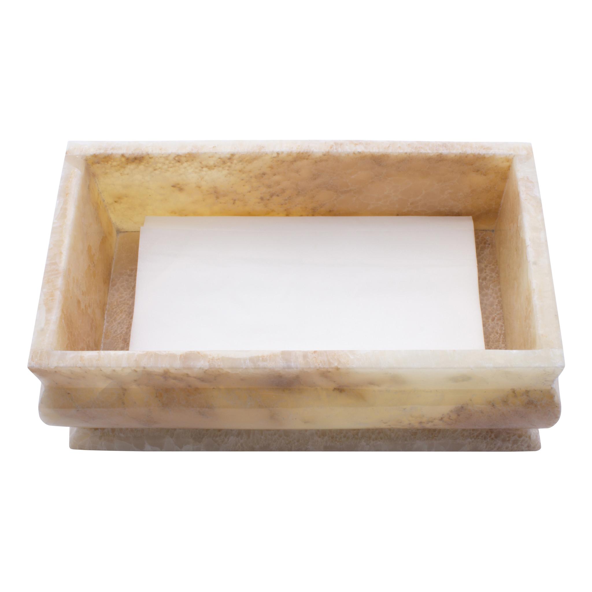 Indomarmer Luxe Tissue Box Onyx