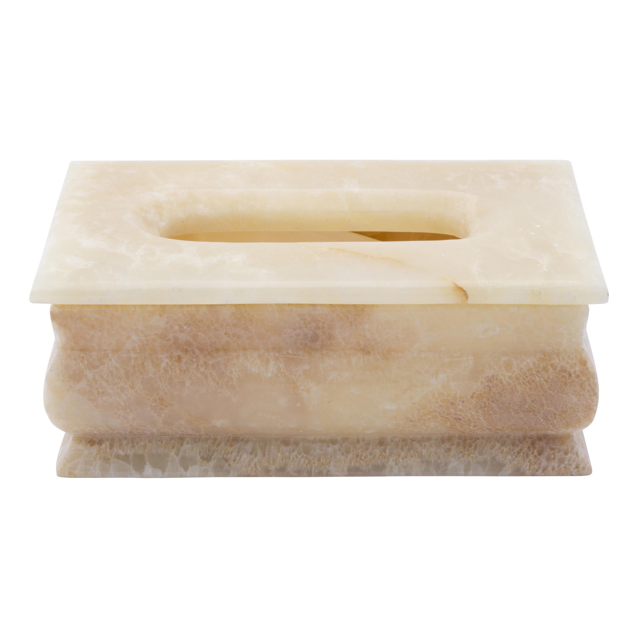 Indomarmer Luxus Taschentuchbox Onyx