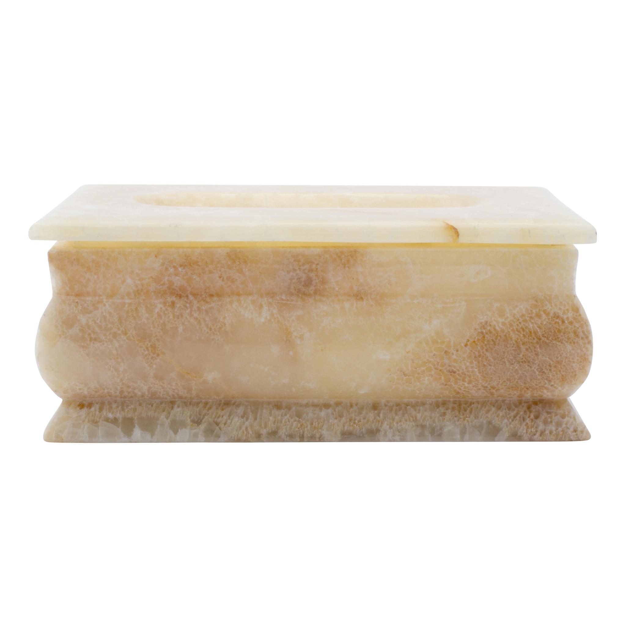 Indomarmer Luxury Tissue Box Onyx