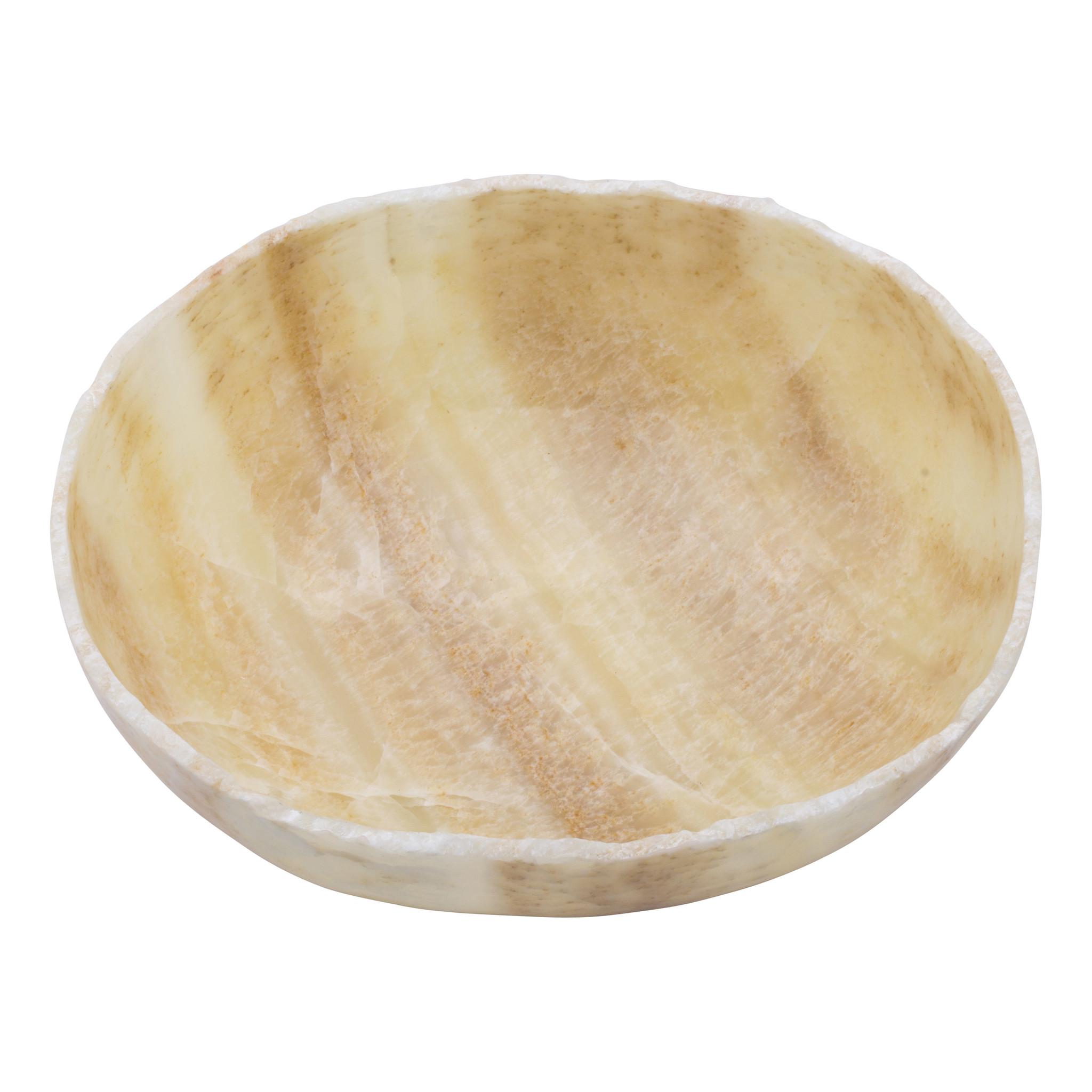 Indomarmer Obstschale aus Onyx