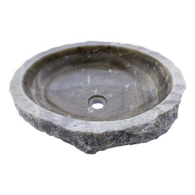 Indomarmer Waschbecken aus Schwarzem Onyx 50x42x15cm