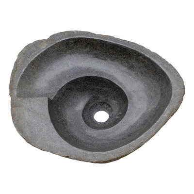 Indomarmer River Stone Washbasin Spiral 44x36x15cm