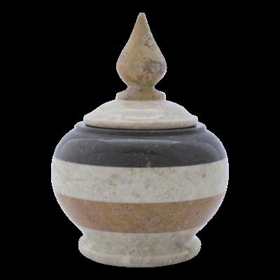 Indomarmer Pot Met Deksel H13cm Ø 11cm