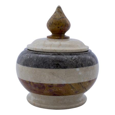 Indomarmer Pot Met Deksel H22cm Ø 18cm