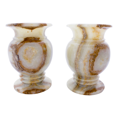 Indomarmer Set Vases of Onyx Ø 20 x h 30