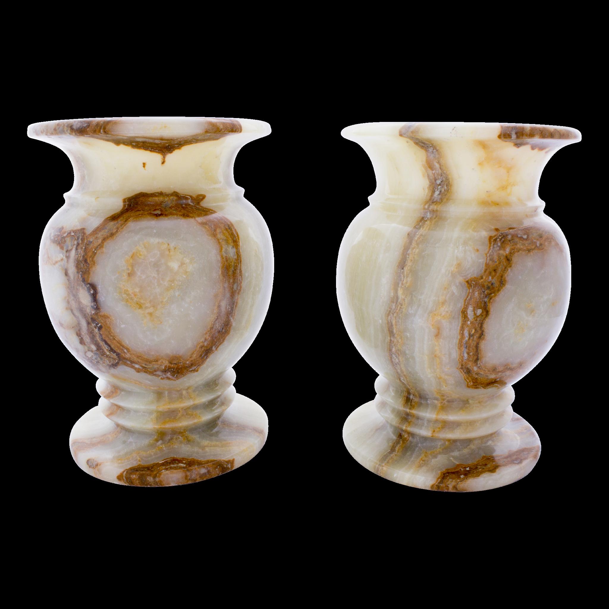 Indomarmer Set Vases of Onyx Ø 20 x h 30
