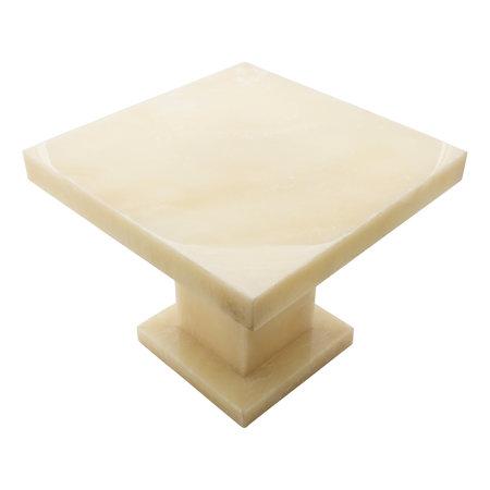 Indomarmer Onyx Bijzettafel Vierkant 50x50x40 cm