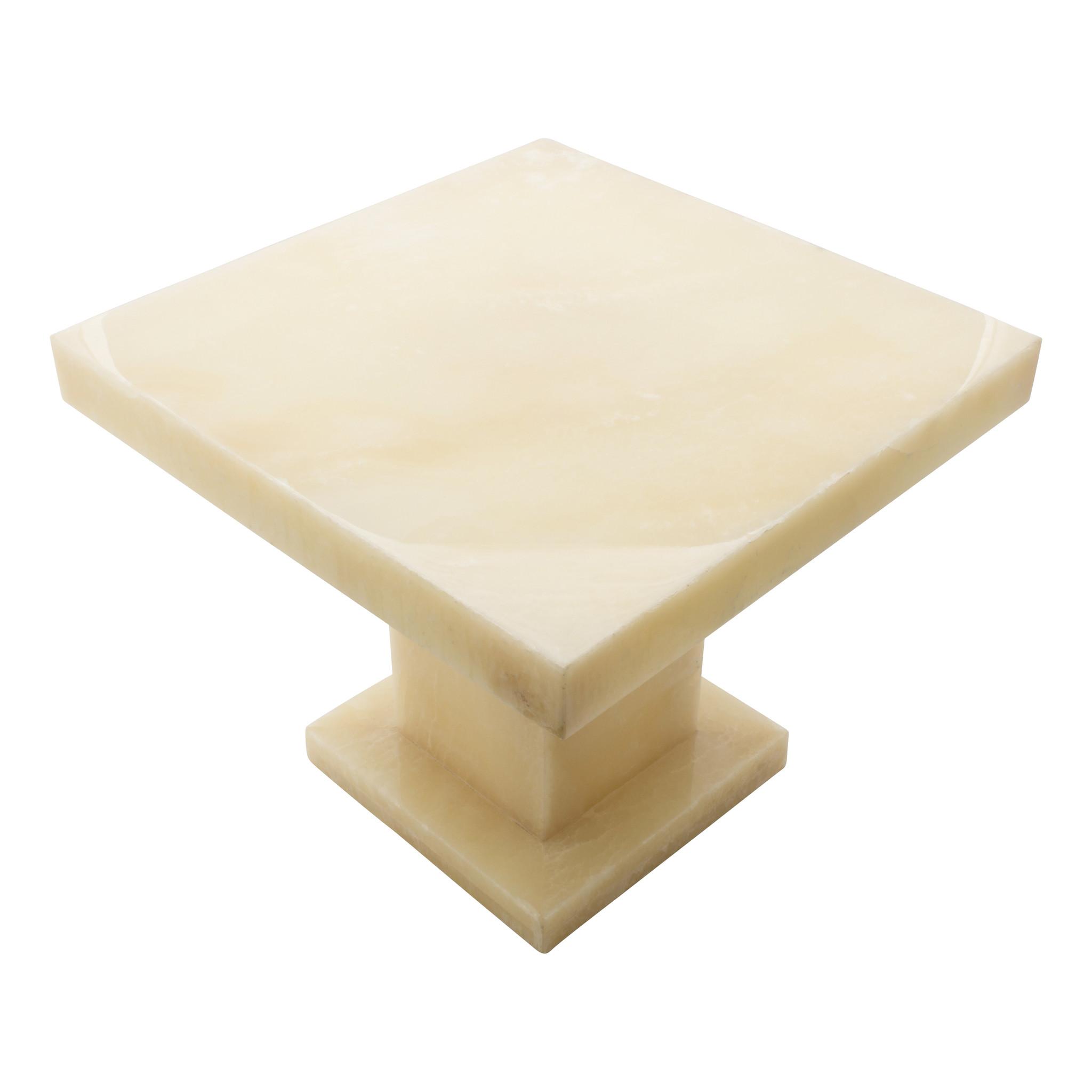 Indomarmer Onyx Beistelltisch Quadrat 50x50x40 cm