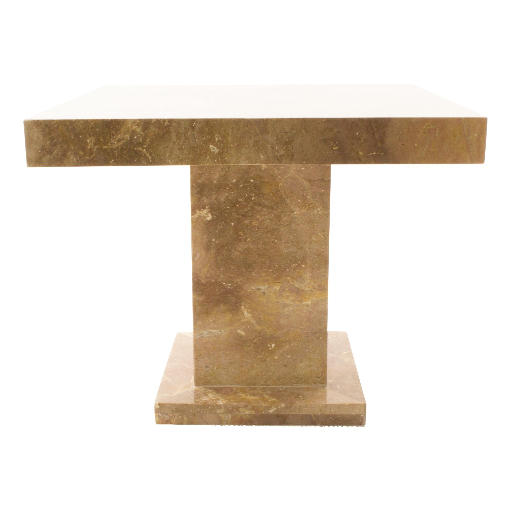Indomarmer Beistelltisch Quadrat 50x50x40 cm Rotem Marmor