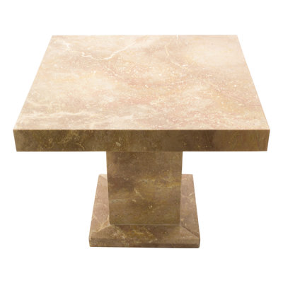 Indomarmer Side table Square 50x50x40 cm Red Marble