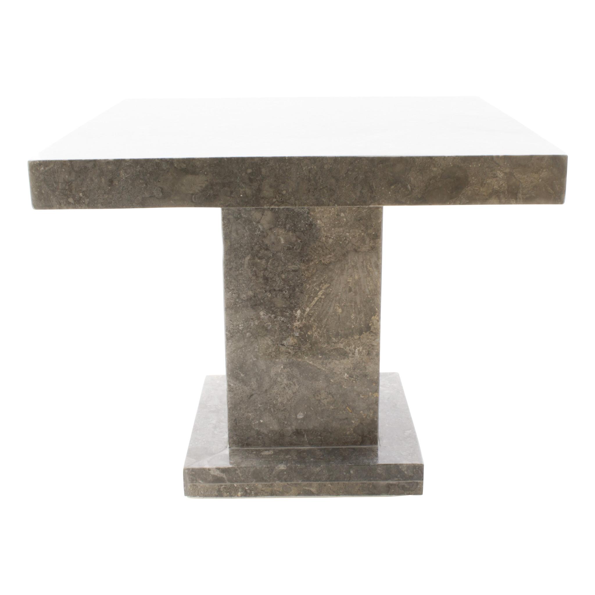 Indomarmer Beistelltisch Quadrat 50x50x40 cm Grauer Marmor