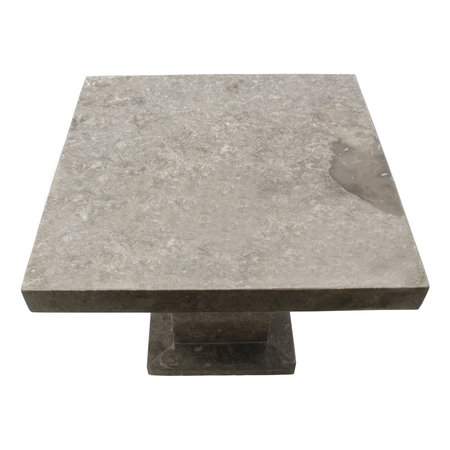 Indomarmer Side table Square 50x50x40 cm Grey Marble