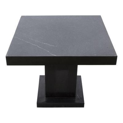 Indomarmer Beistelltisch Quadrat 50x50x40 cm Schwarz Marmor