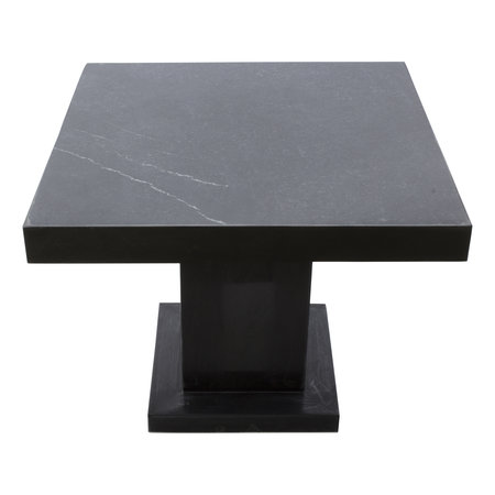 Indomarmer Side table Square 50x50x40 cm Black Marble