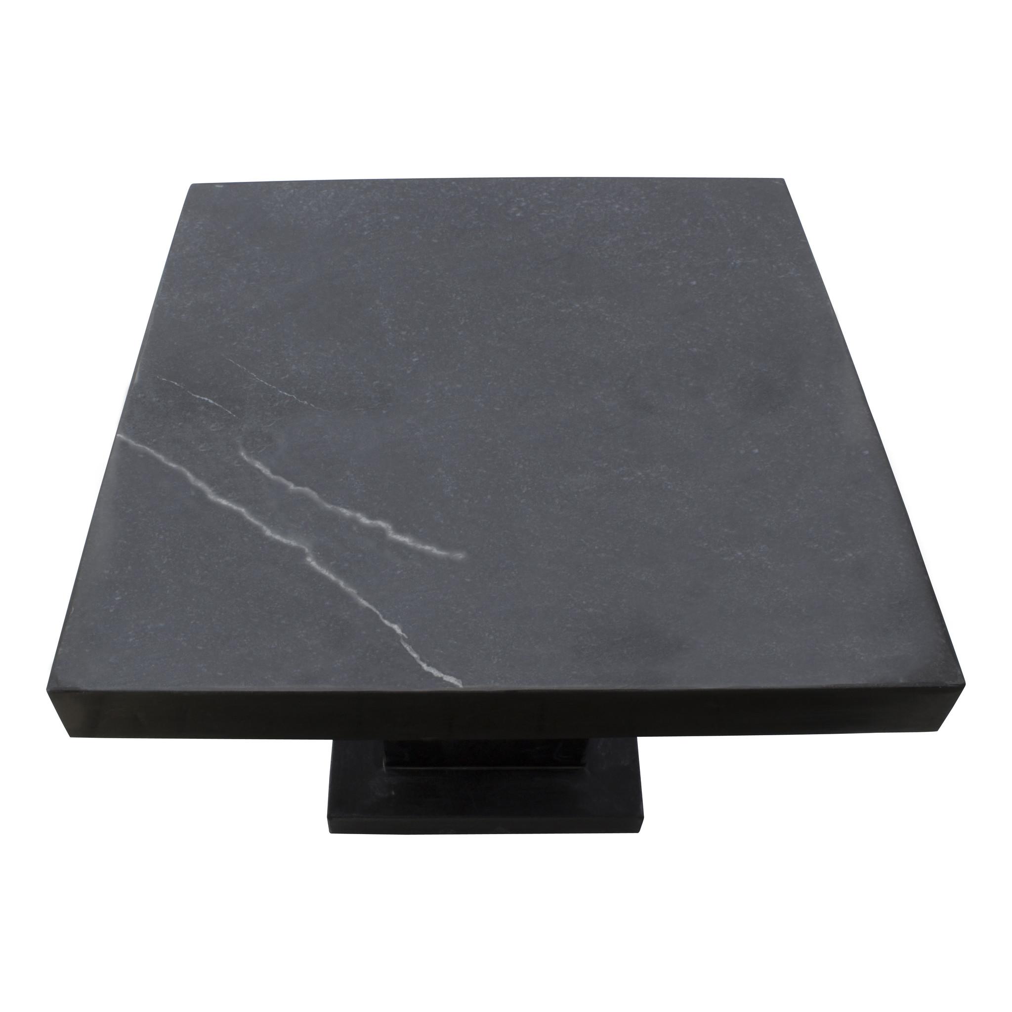 Indomarmer Bijzettafel Vierkant 50x50x40 cm Zwart Marmer
