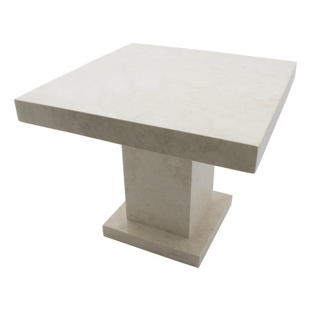 Indomarmer Side table Square 50x50x40 cm Cream Marble