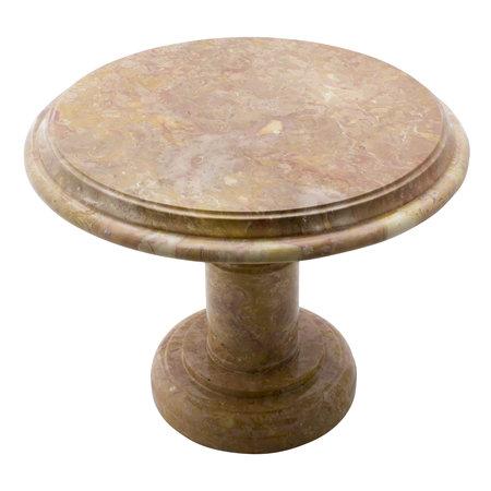 Indomarmer Bijzettafel Rond Ø50xH40 cm Rood Marmer