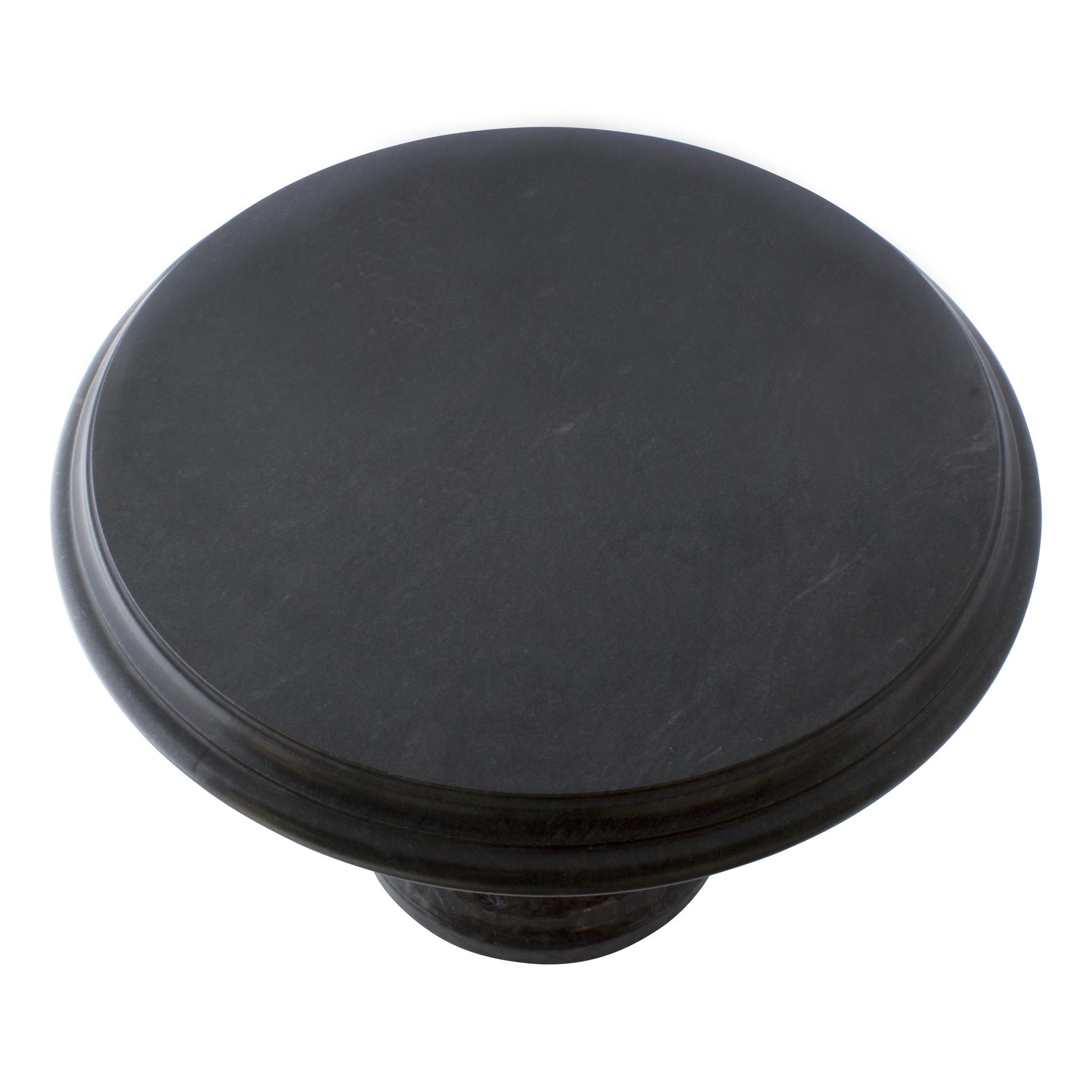 Indomarmer Beistelltisch Rund Ø50xH40 cm Schwarz Marmor