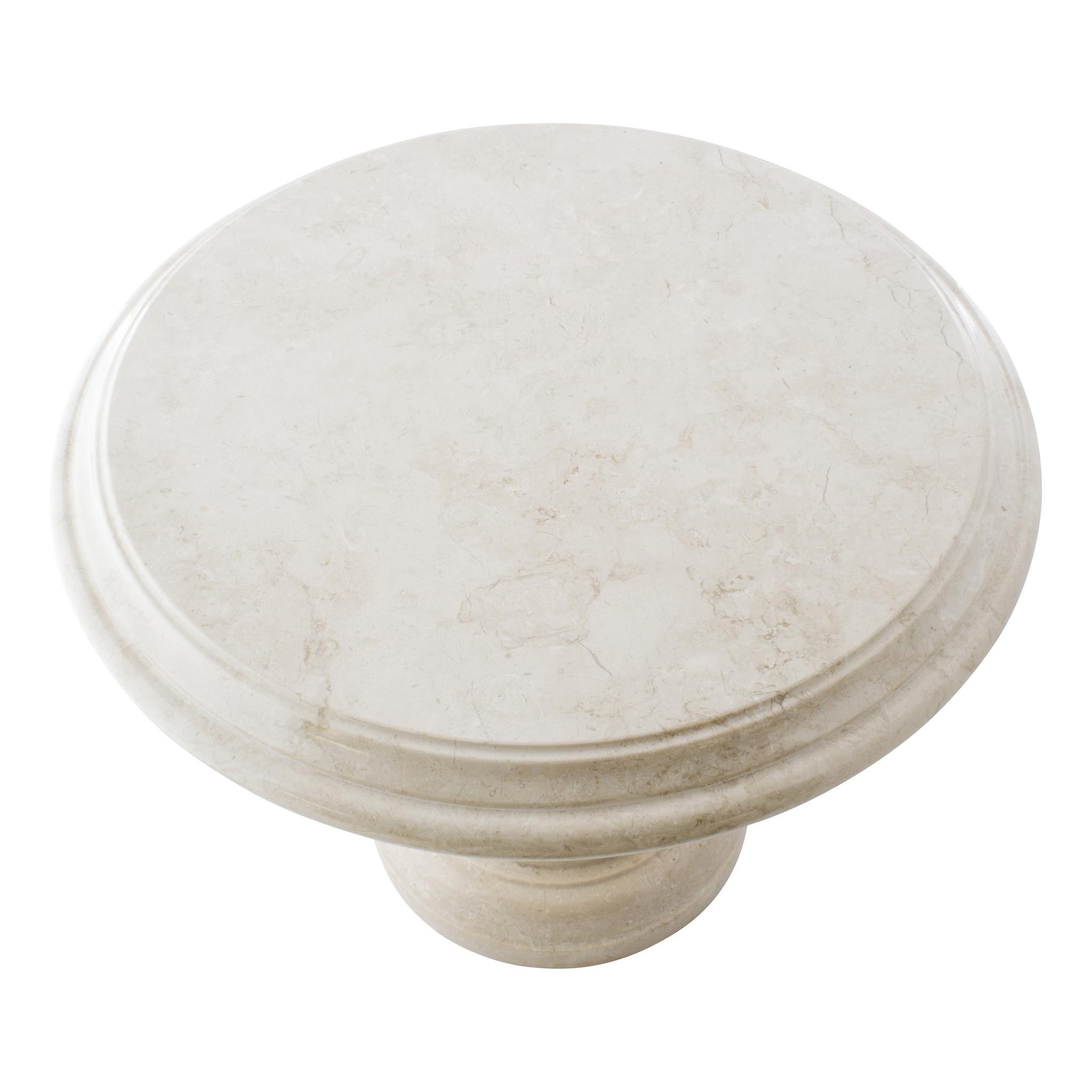 Indomarmer Beistelltisch Rund Ø50xH40 cm Creme Marmor