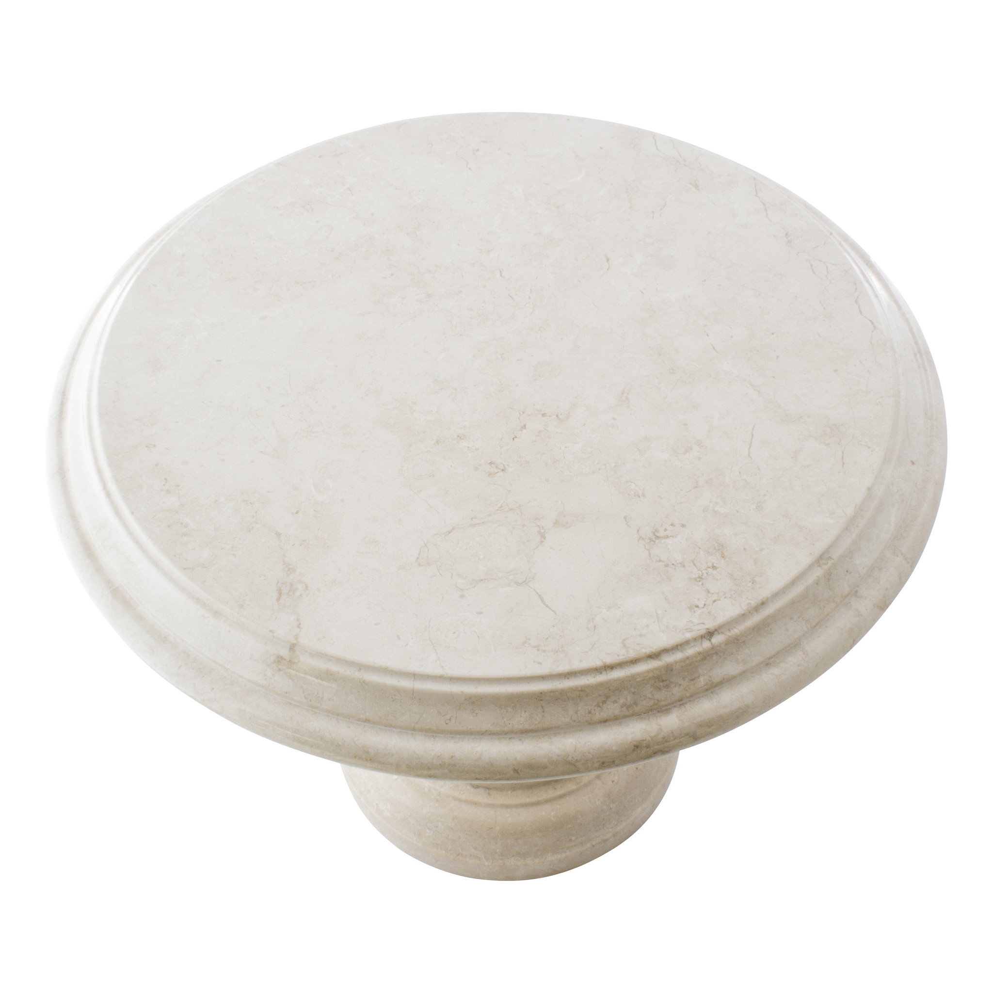 Indomarmer Bijzettafel Rond Ø50xH40 cm Crème Marmer