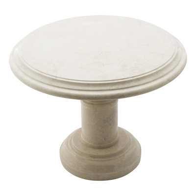 Indomarmer Side table Round Ø50xH40 cm Cream Marble