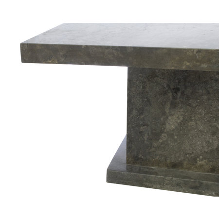 Indomarmer Salontafel Rechthoek 110x70x45 cm Grijs Marmer