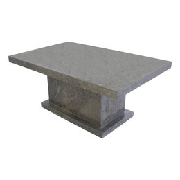 Indomarmer Couchtisch Rechteck 110x70x45 cm Grauer Marmor