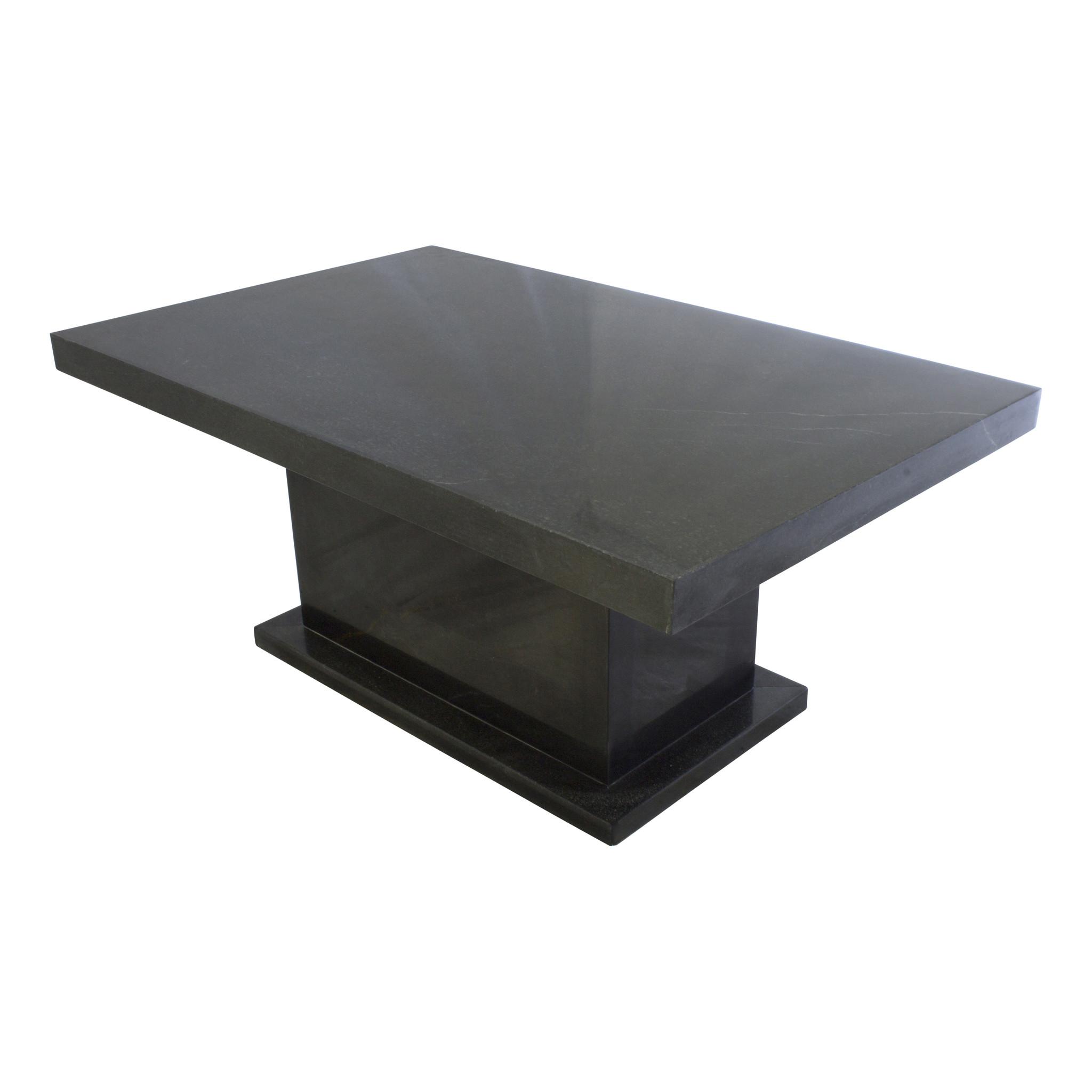Indomarmer Coffee table Rectangle 110x70x45 cm Black Marble