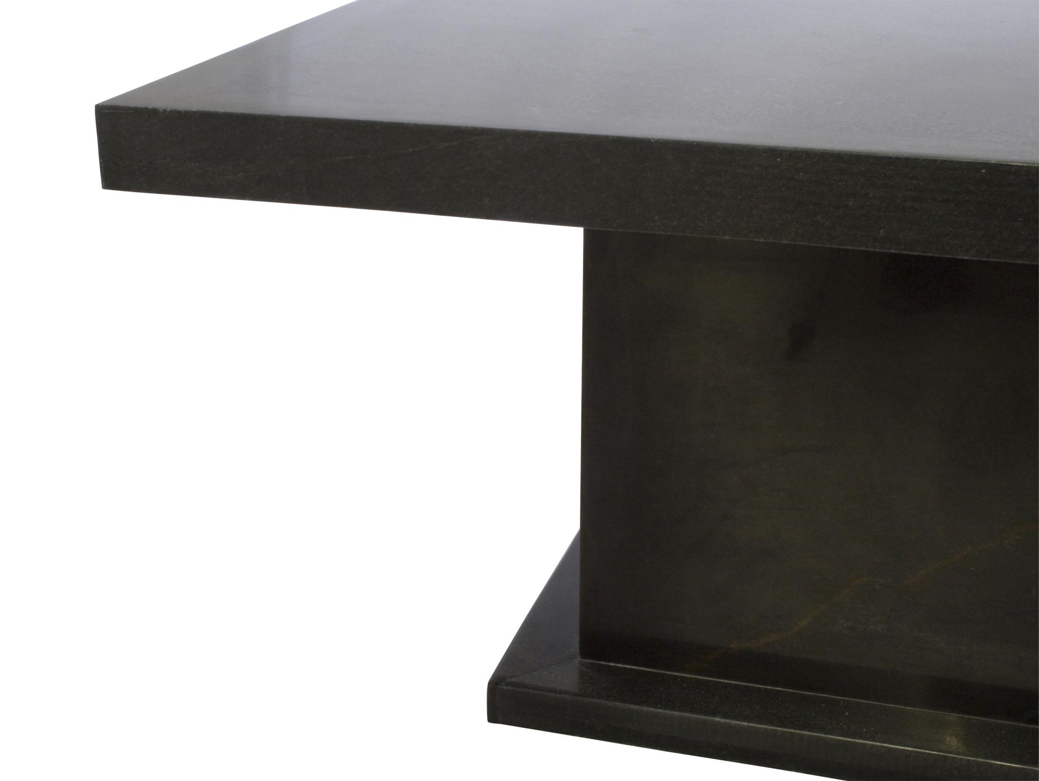 Indomarmer Couchtisch Rechteck 110x70x45 cm Schwarz Marmor